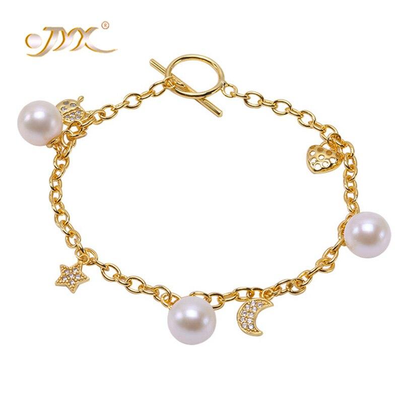 JYX Sterling Silver 925 Bracelet Pearl Bracelet Women Girls Gold Silver 925 Jewelry 7-Selected 8-8.5mm Natural Freshwater Pearl silver pearl twisted open bracelet