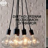 LED Edison Bulb E27 Celling Light Pendant Light New Art Retro DIY Antique lamps living multi colored Lighting High Quality