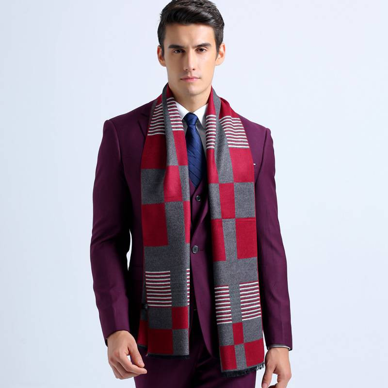 Winter Men Scarf font b Tartan b font Bufandas Luxury Brand Men Business Scarf Plaid Echarpes