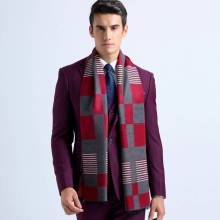 Winter Men Scarf Tartan Bufandas Luxury Brand Men Business Scarf Plaid Echarpes Foulards YJWD321