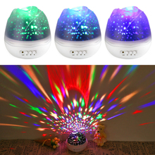 Rose Star Moon Sky Rotating Projector Night Light
