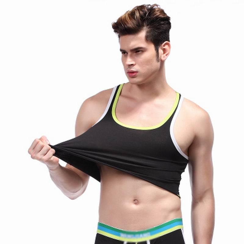 83ec75597d Wholesale Mens Cotton Cropped Hot&Sexy Tank Top Vest Crop Tops Men's Tank  Tops Gay Lingerie Underwear Undershirts Vest-in Tank Tops from Men's  Clothing & ...