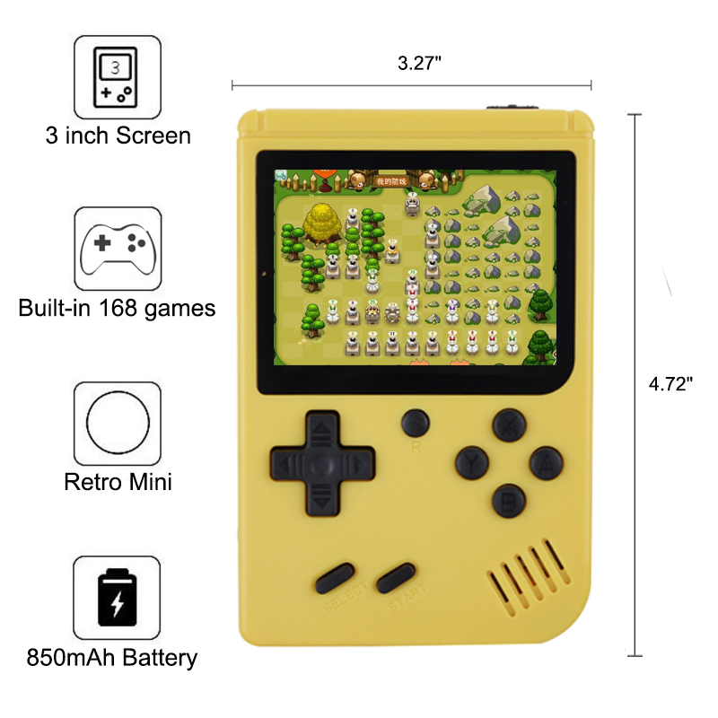 RS-6 A Coolbaby  Retro Portable Mini Handheld Game Console 8-Bit 3.0 Inch Color LCD Kids Color Game Player Built-in 168 games