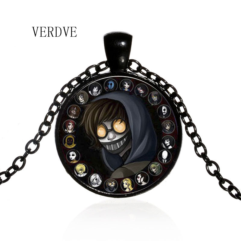 VERDVE 3 color Tokyo Ghoul Anime Gold Ken necklace fashion crystal glass best friend pendant jewelry