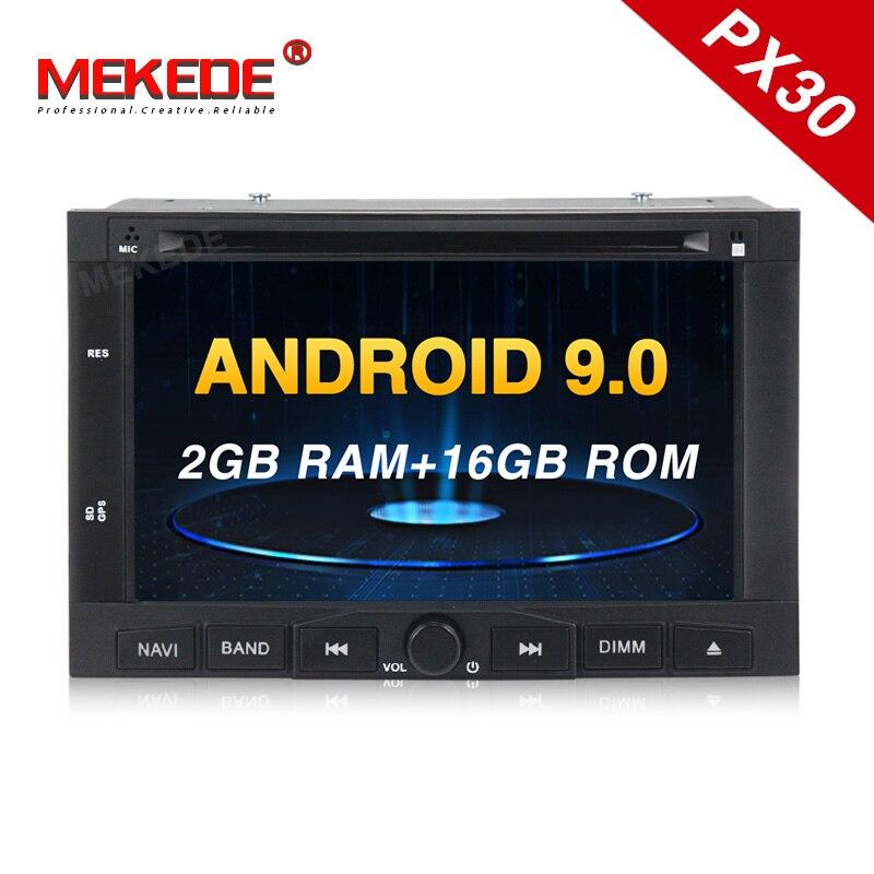 PX30 Android9.0 lecteur DVD de voiture pour Peugeot 307 2002-2010 pour Peugeot 207/3008 2009-2011 avec navigation GPS multimédia WIFI BT