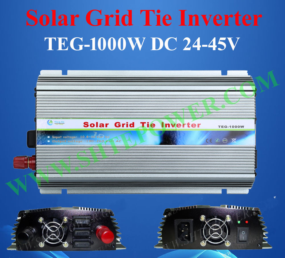 New Arrived!! Grid Tie 1000W Pure Sine Wave Solar Inverter for PV Power 1200W, DC 24V~45V to AC 190V~260V 1kw solar grid tie inverter 12v dc to ac 230v pure sine wave power pv converter