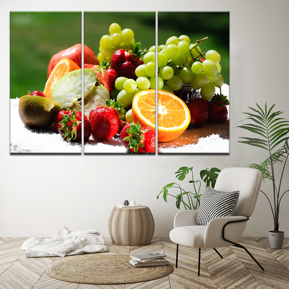 Us 9 9 40 Off Modern Canvas Poster Fruit Painting Wall Pictures For Living Room Canvas Art Modular Wall Print Paintings Kitchen Decor Artwork In
