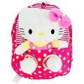 2 unids/set 1 unid bolsa + 1 unid 30 CM Hello Kitty Juguete Nuevo llega Hello Kitty Bolso Lindo De la Felpa Impresión MOCHILA ESCOLAR mochila de peluche de Dibujos Animados