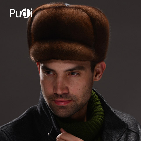 HM033 Real genuine mink hat winter Russian men's warm caps whole piece mink fur hats hm039 real genuine mink hat winter russian men s warm caps whole piece mink fur hats