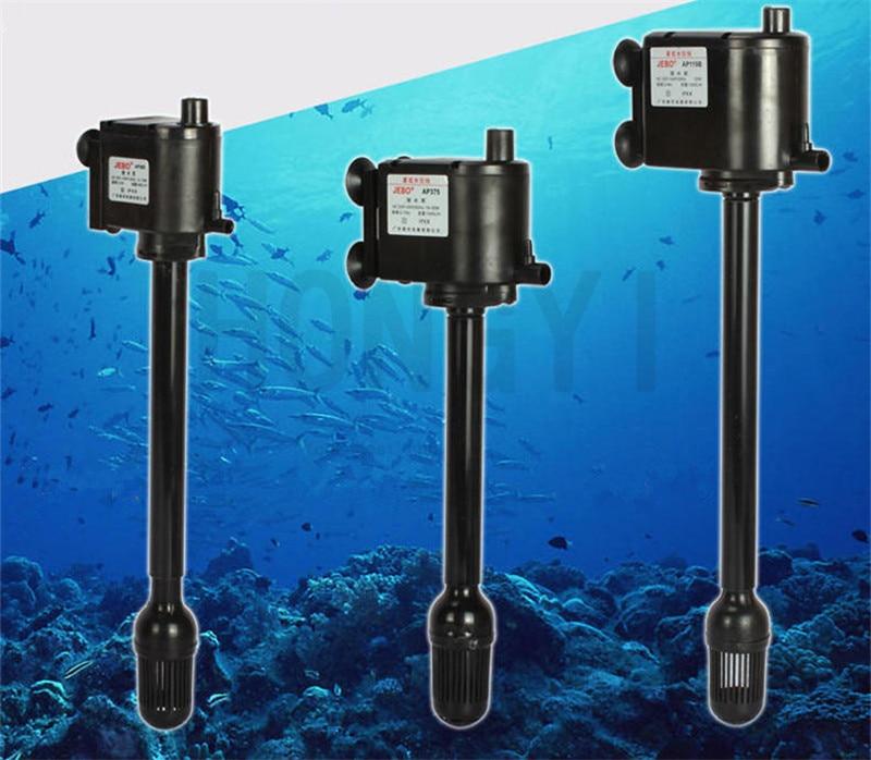 JEBO 1 Piece Aquarium Mini Multifunction Water Pump R362M R375M R119M Air Compressor+internal Filter+water Circulating 220-240V