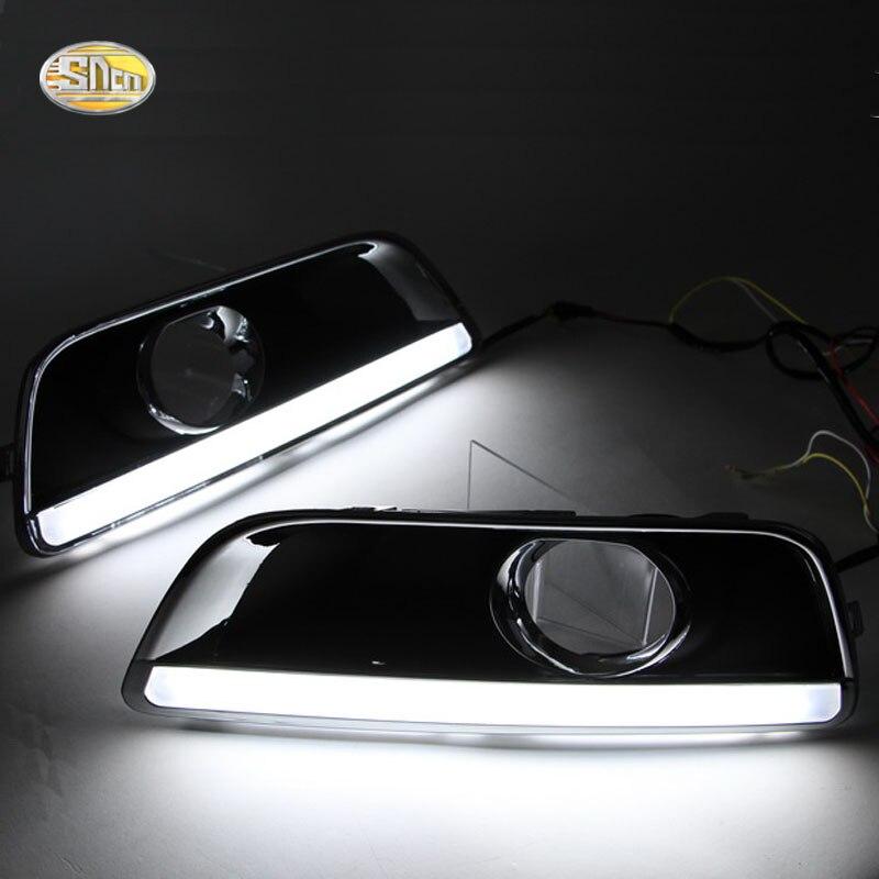 SNCN LED Daytime Running Lights for Chevrolet Malibu 2011-2015 Fog lamp cover 12V ABS DRL shock absorber spring bumper power cushion buffer 4pcs lot for chevrolet malibu malibu captiva aveo trax cruze