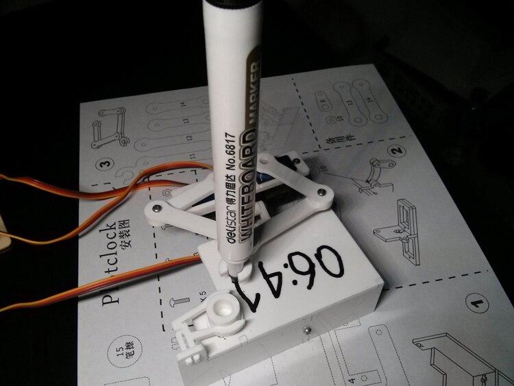 font b Electronic b font assembly kits robot diy kits DIY clock Robot KITS BASED