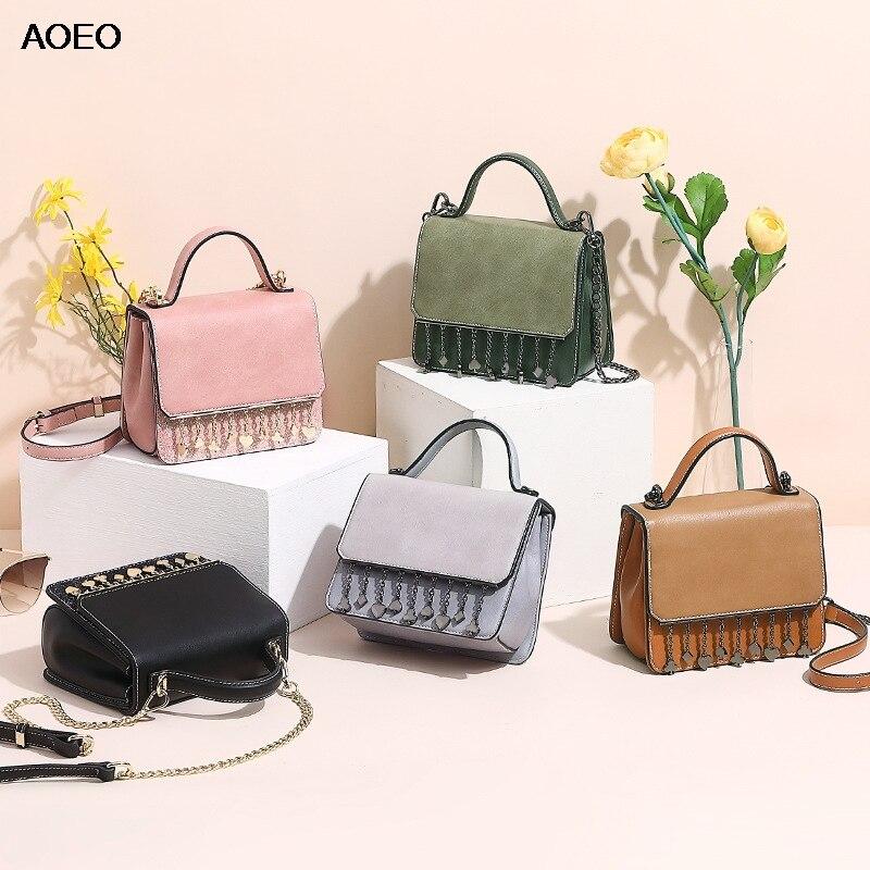 AOEO Crossbody Bags For Women Chain Tassel Diamonds Bling Design Handbag 3 Pieces Bags Girls Shoulder