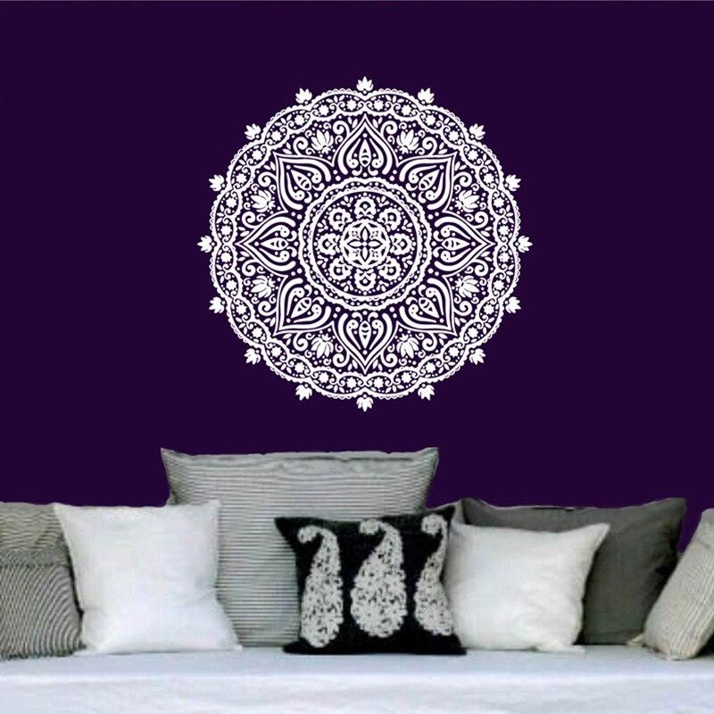 Buddha Zitate Namaste Wandtattoos Yoga Mandala Wandaufkleber Wohnzimmer Diy Wohnkultur Lotus DekorationChina