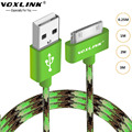 VOXLINK 30 Pin For Iphone 4s USB Cable Original USB Fast Charing Data Wire Cord 1m/2m/3m For  iphone 4 4s  iphone 3GS iPad 2 3