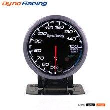 Dynoracing 60 мм черный датчик температуры воды Белый/янтарный светильник с пиковой функцией 50-150C датчик температуры воды автомобильный измеритель