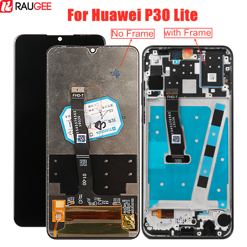 <font><b>LCD</b></font> Screen For Huawei <font><b>P30</b></font> Lite <font><b>LCD</b></font> Display With Frame Digitizer Display For Huawei <font><b>P30</b></font> Lite Touch Display <font><b>LCD</b></font> MAR-LX1 L21 AL01 image