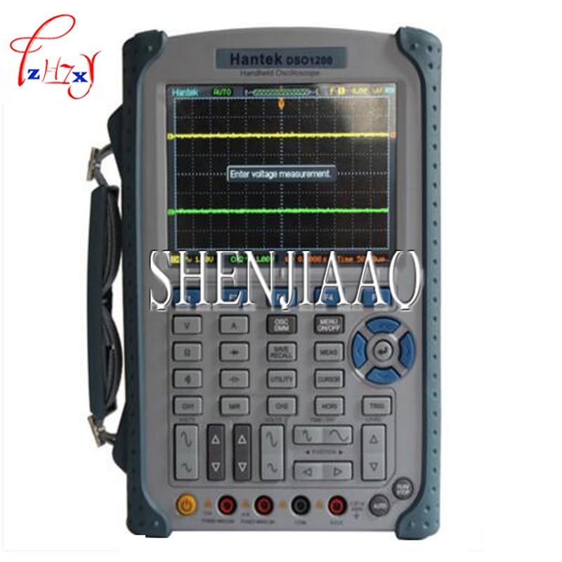 Hantek DSO1200 Handheld Portable USB Oscilloscope Scope DMM 200 MHz 500MSa/s 5.7 2Ch осциллограф siglent sds1102dl 100 2 7 32kpts 500msa s sds 1102dl