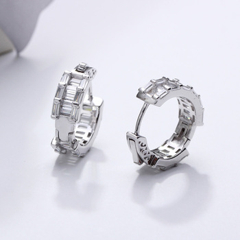 17 mm diameter Real 925 sterling silver hoop earrings Attractive jewelry fine jewellery forward design silver earring for women 2