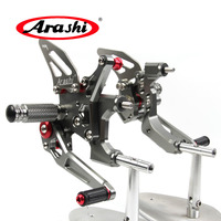 Arashi For DUCATI 959 Panigale 2016 2018 2017 CNC Adjustable Footrests Foot Pegs Rider Footrest Foot Rest Motorcycle Parts