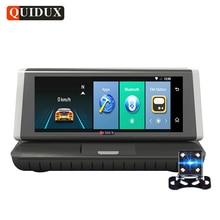 QUIDUX 8.0″ 4G Car DVR GPS Navigation ADAS Android Full hd 1080P car video Camera Recorder Touch Mirror Dual Lens WiFi Dashcam
