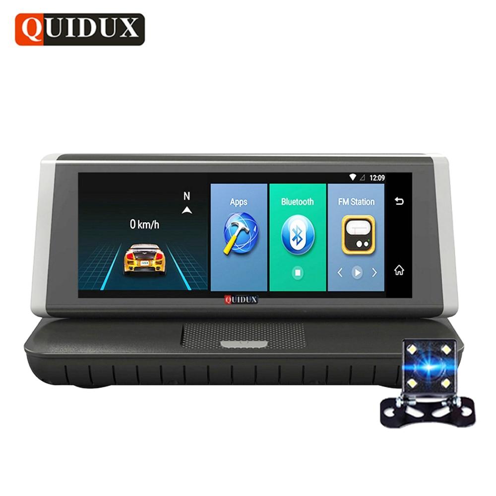 QUIDUX 8 IPS 4G Car DVR GPS Navigation ADAS Android Full hd 1080P car video Camera Recorder Touch Mirror Dual Lens WiFi Dashcam