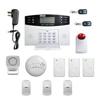 Burglar Intruder Alarm Easy Installation LCD Display Wireless GSM Autodial Security System Apparatus For Home House