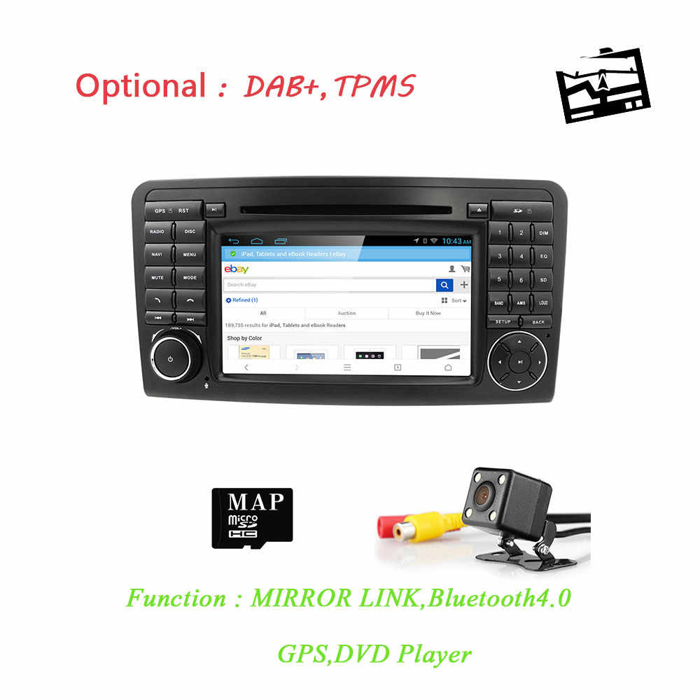 HIZPO Car DVD radio for Mercedes Benz ML W164 ML300 350 450 320 ML63 AMG GL  X164 GL 320 350 420 450 500 GPS Free Camera SD Card