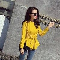 Womens long sleeve tunic Women tunic tops arajuku sweatshirt Cute bow style Women business casual clothing AA1999 X