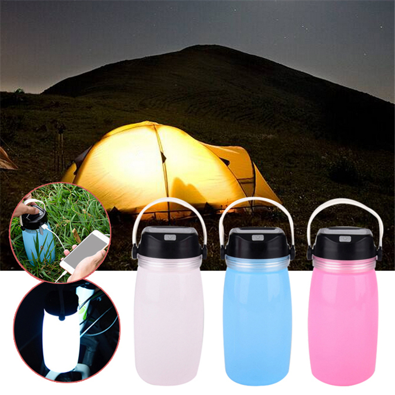 Camping Lamp Multi-use LED Outdoor Camping Lamp Light With Solar Battery Portable Camping Led Solor Battle Multifunction Light 1
