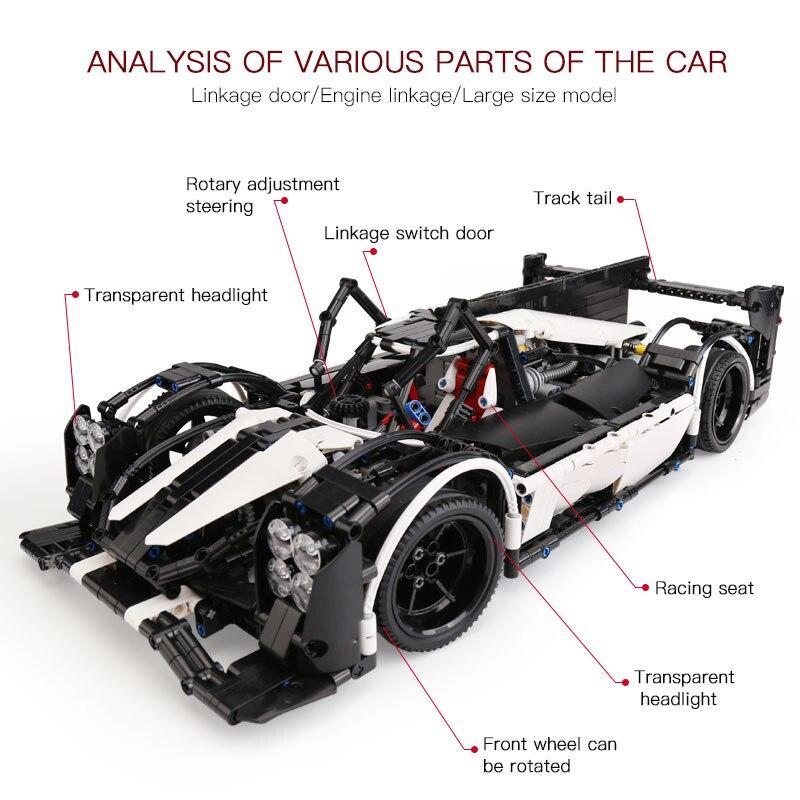 Oyuncaklar ve Hobi Ürünleri'ten Bloklar'de 23018 Teknik oyuncak arabalar Ile Uyumlu Moc 5530 Hibrid Süper Yarış Hızlı Araba Blokları Tuğla Yapı Çocuklar oyuncak araba Modeli Hediyeler'da  Grup 3