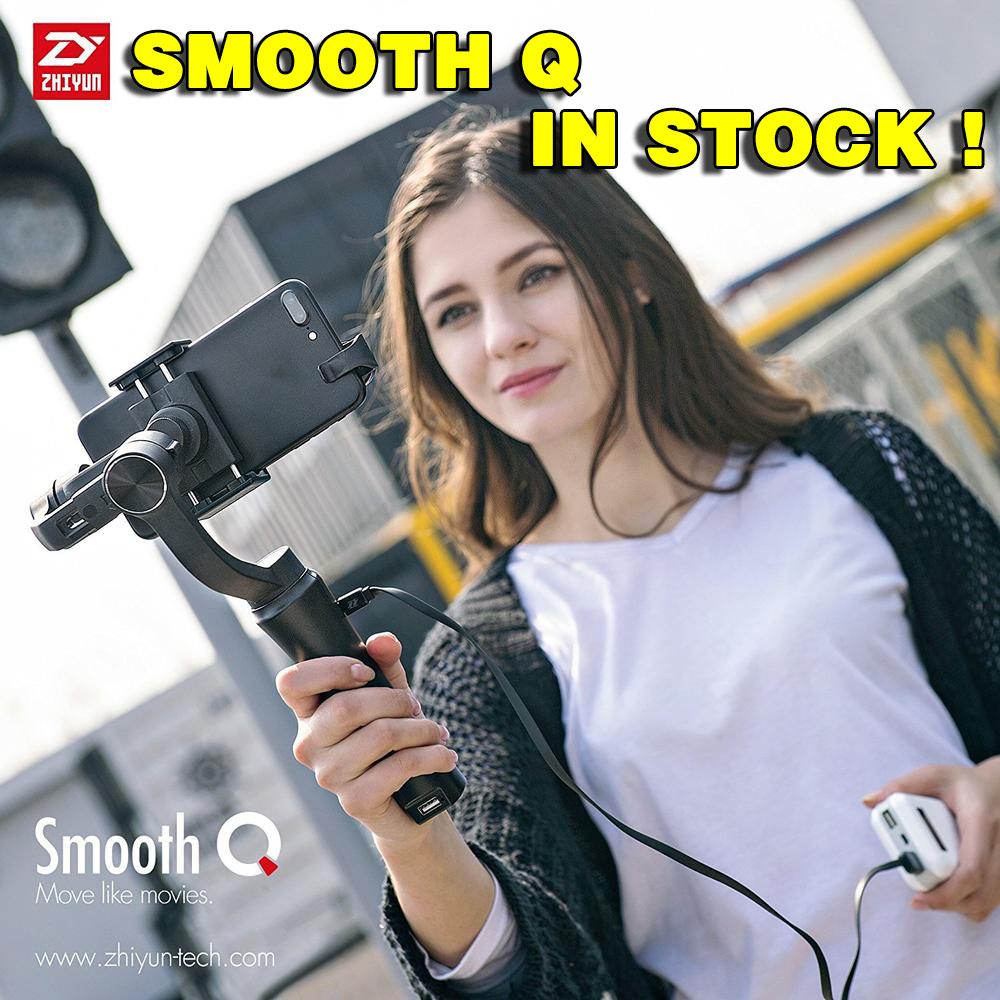 Zhiyun SMOOTH Q 3-Axis Handheld Gimbal Stabilizer for Smartphone action camera phone Portable sjcam cam PK feiyu dji osmo z1 smooth ii 3 axis brushless handheld gimbal stabilizer for smartphone handheld within 6 5 screen