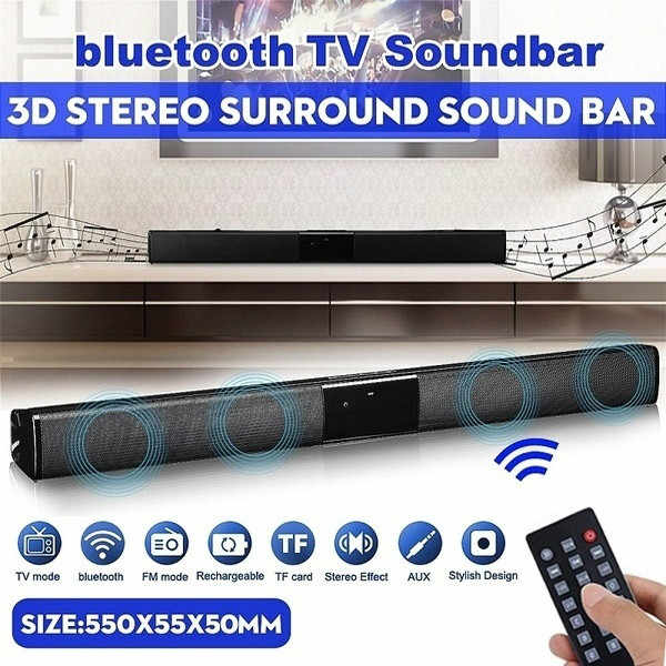 2020 ultime Wireless Bluetooth Soundbar Altoparlante Stereo TV Home Theater Bar Suono altoparlante del bluetooth
