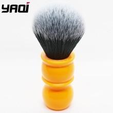 Yaqi 24 millimetri Morbidi Capelli Sintetici di Buona Smoking Nodo Arancione Maniglia Pennelli Da Barba