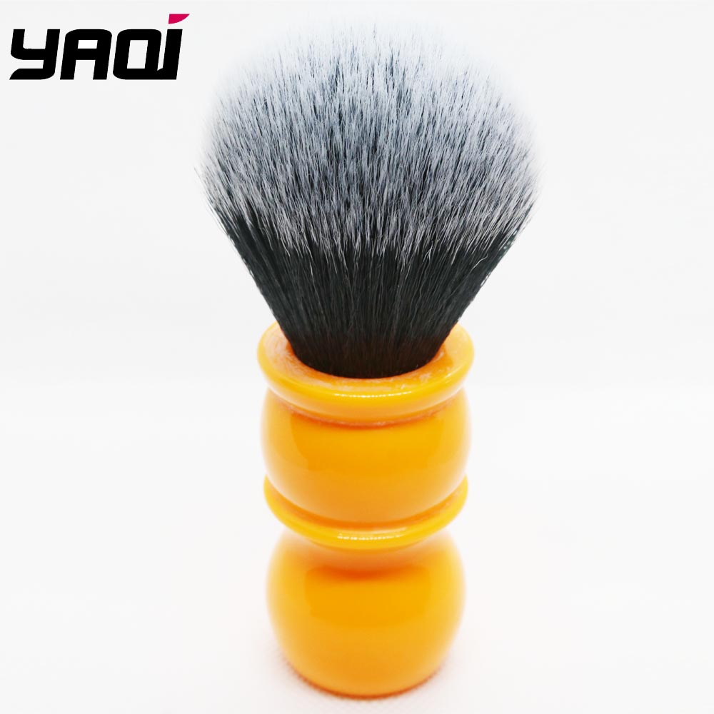 Yaqi 24mm Soft  Synthetic Hair Good Tuxedo Knot Orange Handle Shaving Brushes With Bigger Glue Bump