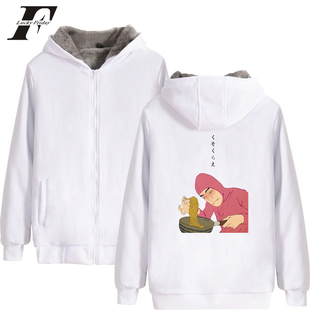 5d7b500510a57 LUCKYFRIDAYF 2018 Pink Guy Ramen King VAPORWAVE parkas winter jackets coat  cotton thick zipper oversized hoodie clothing