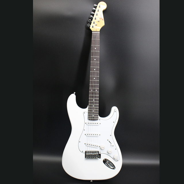 High Quality 8 Inch White Custom Electric Guitar 6