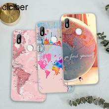ciciber Soft Silicone For BQ Aquaris C U2 U X5 V VS X2 X Lite Pro Plus E4.5 M5 M5.5 Clear TPU Back Cover Phone Cases Travel Map