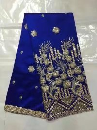 Indian George Lace African George Fabric High Quality George Lace Raw Silk George Wrappers Nigerian Lace