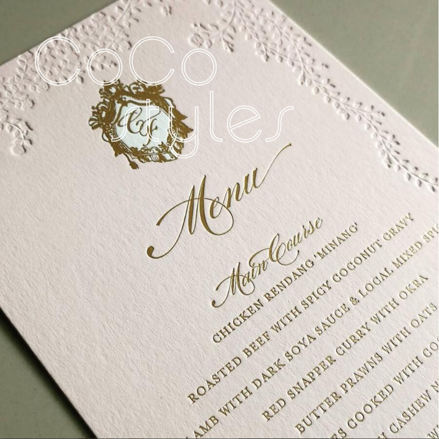 Fantasy Wedding Invitations: Cocostyles Personalized Simple Style Letterpress