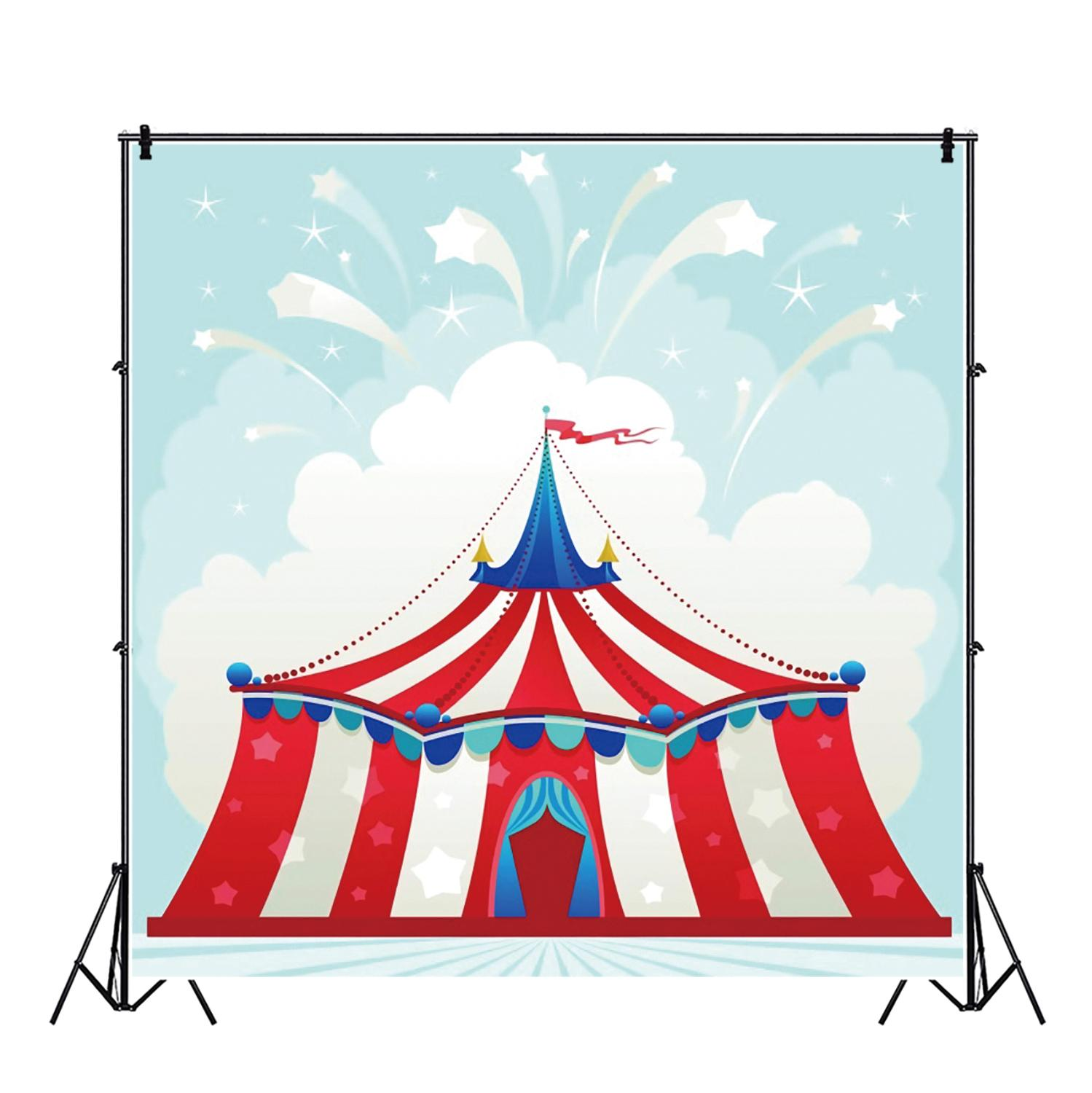 Yeele Children Birthday Communion Tent Circus Party Decoration Personalized Backdrops Photography Backgrounds For Photo Studio in Background from Consumer Electronics