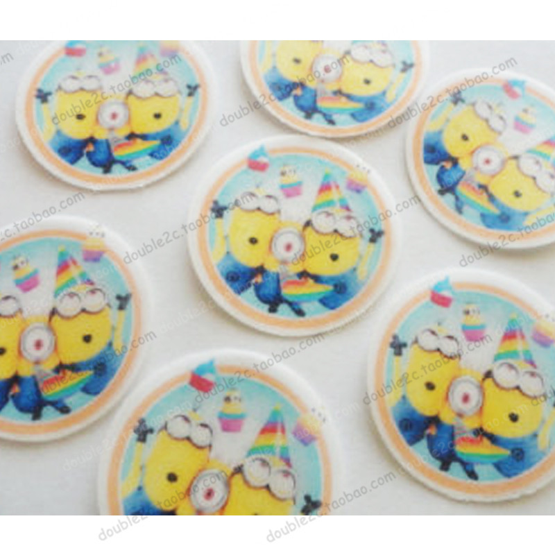 Outstanding Wafer Paper For Cup Cake Topper Minion Minions Birthday Party Funny Birthday Cards Online Aeocydamsfinfo
