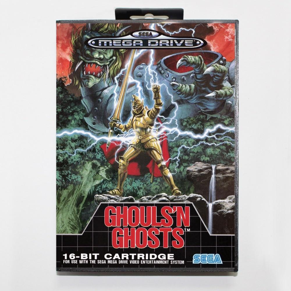 16 Bit Sega Md Spiel Patrone Mit Kleinkasten Ghouls 'n Ghosts Spielkarte Für Megadrive Genesis System Geeignet FüR MäNner Und Frauen Aller Altersgruppen In Allen Jahreszeiten