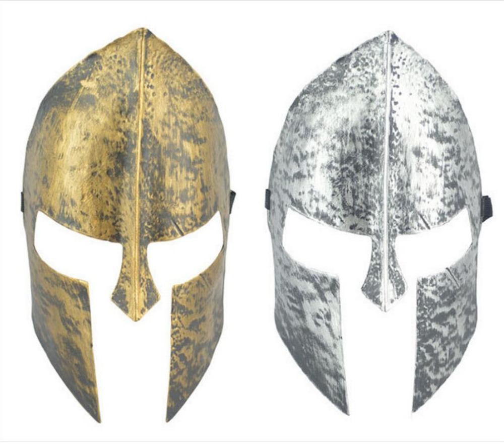 bc6be6931c7 Halloween Party Spartan theme Spartan Warrior Helmet Mask Decoration Adult  Cosplay Masquerade Ball Sport Headband B2239-in Party Masks from Home    Garden on ...