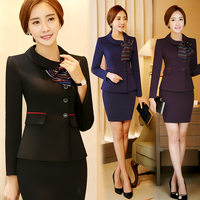 New Arrival Work Bussiness Formal Suits Women Sets Female Skirt Suits Office Coat Skirt Charming Women