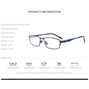 Image 4 - Óculos de titânio puro quadro masculino quadrado miopia óculos de olho óptico para homem vintage retro ultra luz completa fonex 1180
