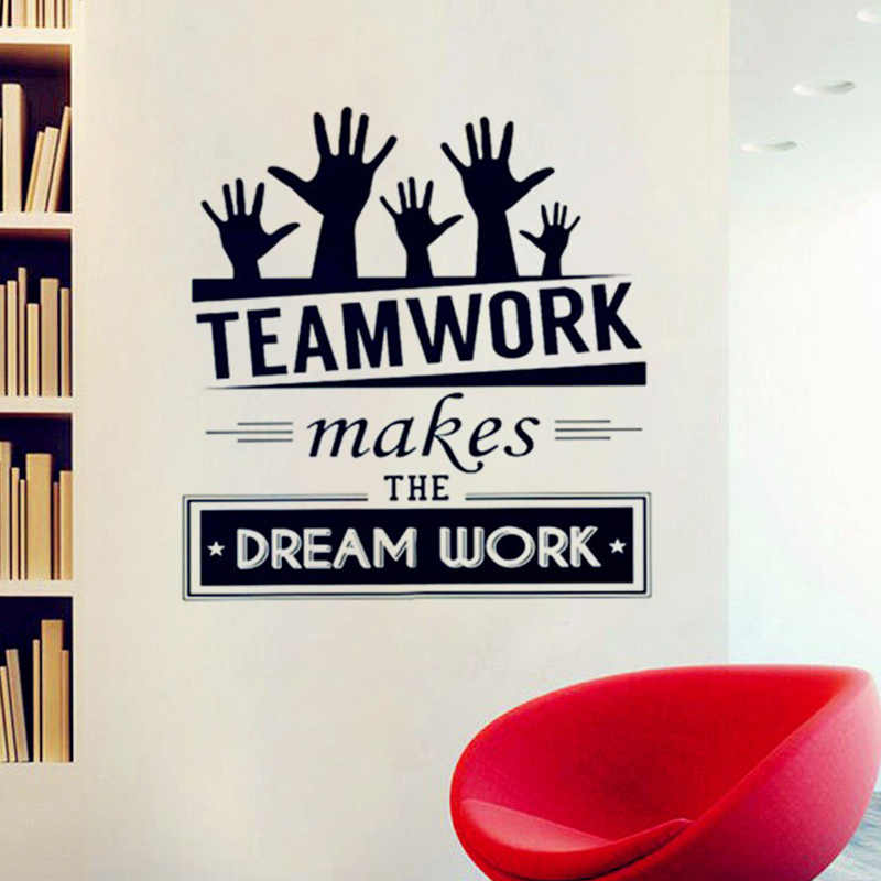 Office Wall Stickers Vinyl Decal Art Office Mural Decor Office Sticker Teamwork Makes The Dream Work Quotes Decal
