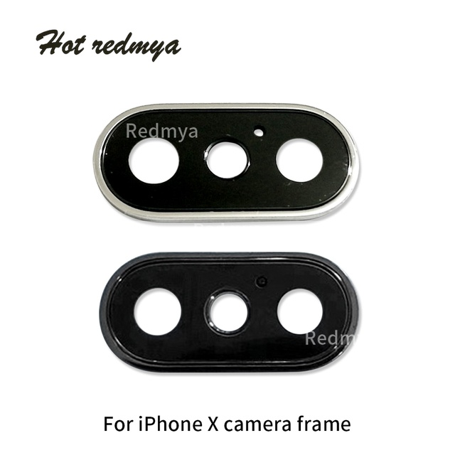 cheaper 99517 00fbf US $29.68 |10Pcs Original New Sapphire Crystal Single Glass With Metal  Frame For iPhone X Camera Lens Ring Cover Replacement-in Mobile Phone  Lenses ...