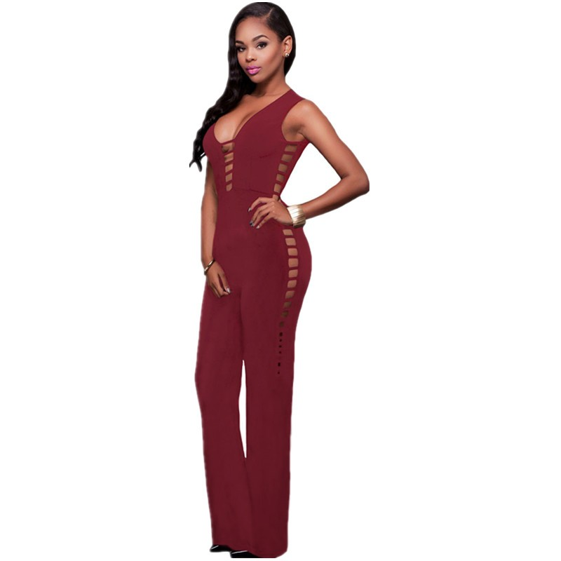 Burgundy-String-Hollow-Out-Sexy-Nightclub-Jumpsuit-LC64111-3