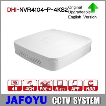 DH 4 K POE NVR NVR4104-P-4KS2 z 4ch PoE h 265 Video Recorder obsługuje ONVIF 2 4 SDK CGI biały POE NVR dla DH system CCTV tanie i dobre opinie DHI-NVR4104-P-4KS2 network H 264 Rj45 KANAŁ 4 K HDMI 3840*2160 1VGA + 1 HDMI Kanał rca SATA 3 5 Rj45 10 100 m Tcp ip